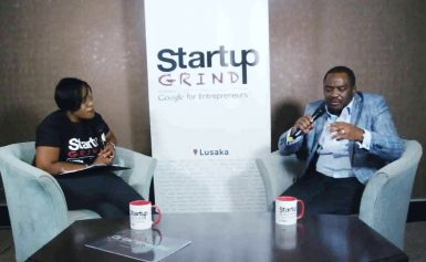 David Found (Blackdot) at Startup Grind Lusaka